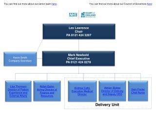 Mark  Newbold Chief Executive PA 0121 424 0278