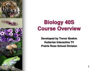 Biology 40S Course Overview