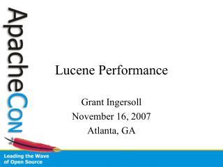 Lucene Performance