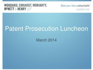 Patent Prosecution Luncheon