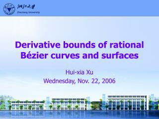 Derivative bounds of rational B �zier curves and surfaces