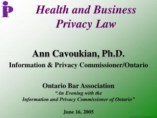 Health and Business  Privacy Law
