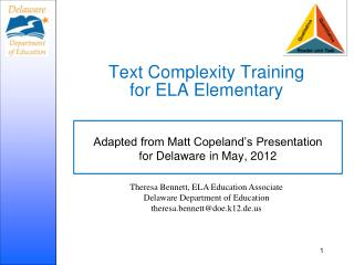 Text Complexity Training for ELA Elementary