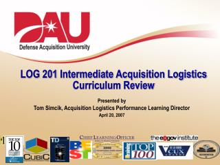 LOG 201 Intermediate Acquisition Logistics  Curriculum Review