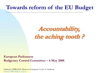 Accountability, the aching tooth ?