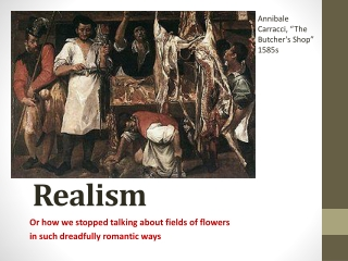 REALISM IN FRENCH ART AND LITERATURE