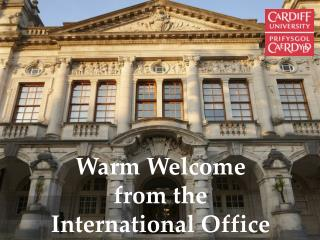 Warm Welcome from the International Office