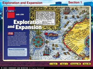 Preview Starting Points Map: European Discovery Main Idea / Reading Focus