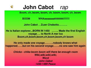 John Cabot     rap