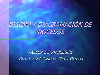 DISE O Y DIAGRAMACI N DE PROCESOS.