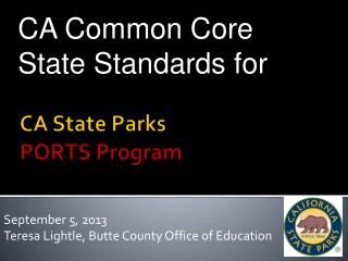 CA State Parks  PORTS Program