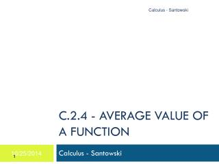 C.2.4 - AVERAGE VALUE OF A FUNCTION