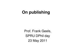 On publishing