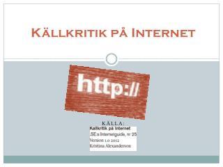 K�llkritik p� Internet