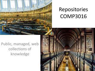Repositories COMP3016