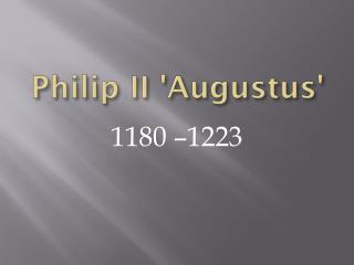 Philip II 'Augustus'