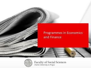 Programmes in Economics and Finance