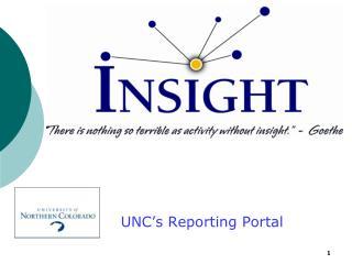 UNC's Reporting Portal