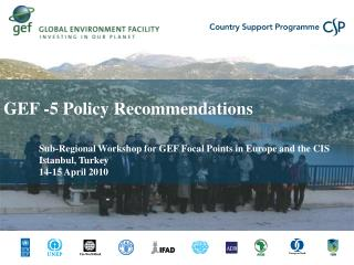 GEF -5 Policy Recommendations Sub-Regional Workshop for GEF Focal Points in Europe and the CIS