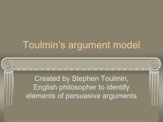 Toulmin's argument model