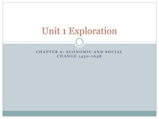 Unit 1 Exploration