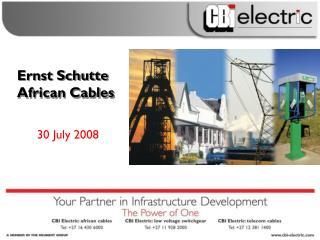 Ernst Schutte African Cables