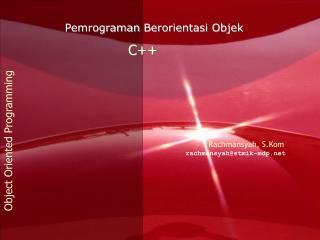 """cout untuk menampilkan suatu informasi ke layar monitor. contoh : cout<<""""C++"""";"""