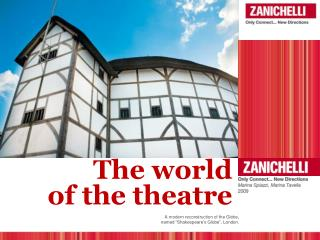 The world  of the  theatre