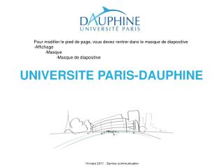 UNIVERSITE PARIS-DAUPHINE