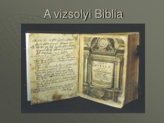 A vizsolyi Biblia