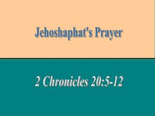 2 Chronicles 20:5-12