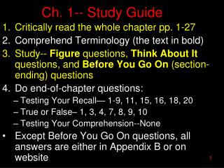 Ch. 1-- Study Guide