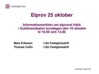 Mats ErikssonLSU Fastighetsdrift Thomas CollinLSU Fastighetsdrift