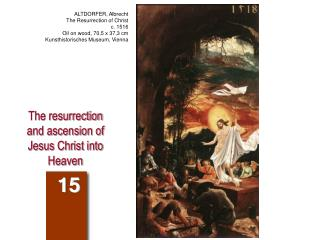 The resurrection and ascension of Jesus Christ into Heaven