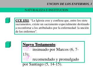UNCION DE LOS ENFERMOS, 1