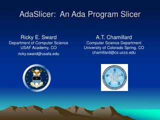AdaSlicer:  An Ada Program Slicer