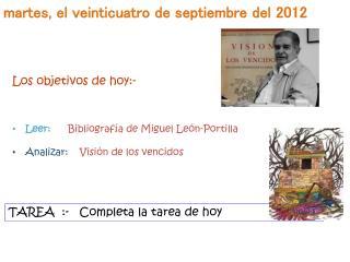 m artes , el veinticuatro  de septiembre del 2012