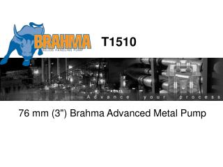"76 mm (3"") Brahma Advanced Metal Pump"