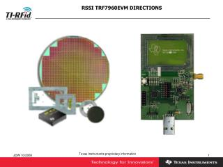 RSSI TRF7960EVM DIRECTIONS