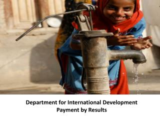 Department for International Development Payment by Results
