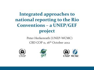 Integrated approaches to national reporting to the Rio Conventions – a UNEP/GEF project