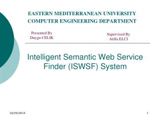 Intelligent Semantic Web Service Finder (ISWSF) System