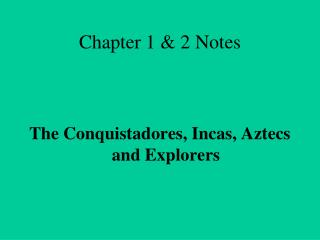 Chapter 1 & 2 Notes