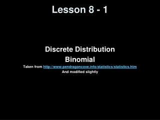 Lesson 8 - 1