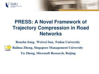 PRESS: A Novel Framework of Trajectory Compression in  Road Networks