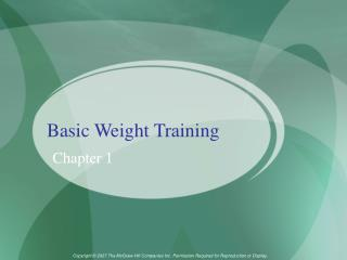 Basic Weight Training