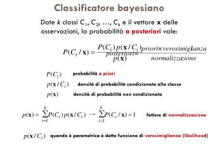 Classificatore bayesiano