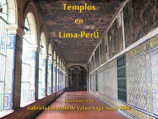 Templos  en  Lima-Per �