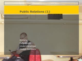 Public Relations 1