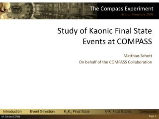 Study of Kaonic Final State Events at COMPASS